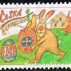 Sellos: REPUBLICA CHECA Nº 591, SEMANA SANTA AÑO 2009, USADO. Lote 214261257