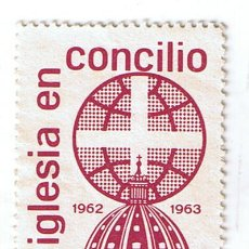 Selos: VIÑETA FILATÉLICA CONMEMORATIVA LA IGLESIA EN CONCILIO 1962 FOURNIER. SELLO ESTAMPILLA. Lote 216935497