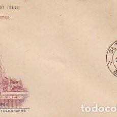 Sellos: INDIA Nº 382, SANTO TOMÁS APOSTOL, ESTATUA DE LA CATEDRAL DE ORTONA. ITALIA, SOBRE PRIMER DIA 1964. Lote 219887042