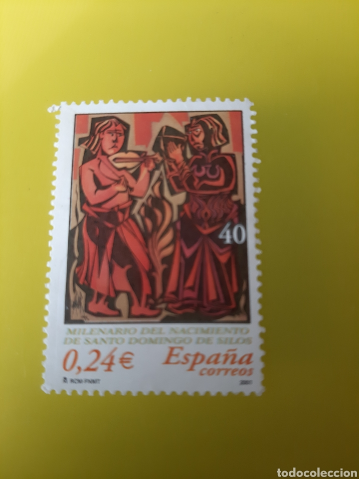 SANTO DOMINGO SILOS MÚSICA ARTE RELIGIOSO EDIFIL 3817 FILATELIA COLISEVM LUGO (Sellos - Temáticas - Religión)