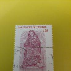 Timbres: EDIFIL 3809 EDADES HOMBRE VIRGEN CALVA RELIGIÓN AÑO 2001. Lote 221481452