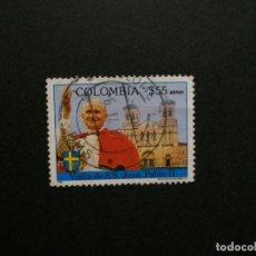 Sellos: /24.10/-COLOMBIA-1986-CORREO AEREO 55 P. Y&T 751 EN USADO/º/-S.S.JUAN PABLO II. Lote 222156262