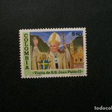 Sellos: /24.10/-COLOMBIA-1986-CORREO AEREO 60 P. Y&T 752 EN USADO/º/-S.S.JUAN PABLO II. Lote 222156442