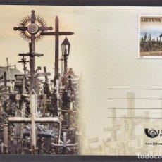 Selos: 45.- LITUANIA 2020 ENTERO POSTAL - EL VALLE DE LAS CRUCES. Lote 225863250