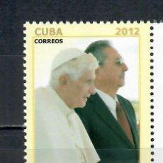 Sellos: 5595 CUBA 2012 MNH POPE BENEDICT XVI VISITS CUBA. Lote 226325598