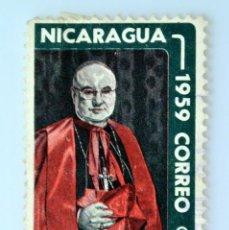 Sellos: SELLO POSTAL NICARAGUA 1959 ,0,15 C$, CARDENAL SPELLMAN, USADO. Lote 231501280