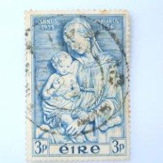 Sellos: SELLO POSTAL IRLANDA 1954 , 3 P , AÑO MARIANO 1953-1954, USADO. Lote 233544310
