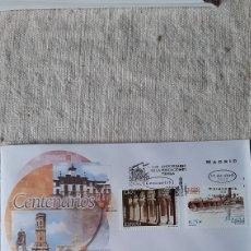 Sellos: EDIFIL 3892/3 MATASELLO USADO CENTENARIOS TUDELA /SAN CUGAT VALLES BARCELONA SFC ARQUITECTURA. Lote 237251730