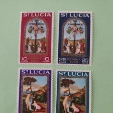 Sellos: SELLOS SANTA LUCIA 229/32** - AÑO 1968 - PASCUA - PINTURA RELIGIOSA - OBRAS DE RAPHAEL Y TIZIANO. Lote 241427225
