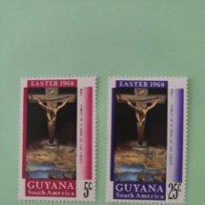 Sellos: SELLOS 5923-SERIE COMPLETA NAVIDADES 1968 GUYANA Nº463/4 EASTER 1968. Lote 241428540