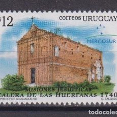 Timbres: URUGUAY 1998 MERCOSUR - JESUIT MISSIONS MNH - CHURCHES, RELIGION. Lote 241512665