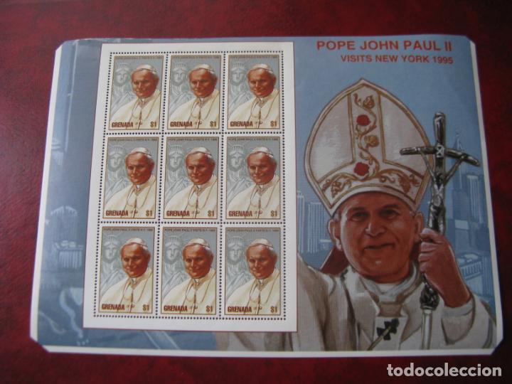 Sellos: *grenada, minipliegos visita de juan pablo II a nueva york - Foto 2 - 241972210