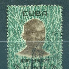 Timbres: 703-2 CUBA 1961 U THE JESUS MENENDEZ COMMEMORATION. Lote 248525150