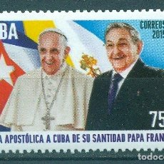 Sellos: ⚡ DISCOUNT CUBA 2015 POPE FRANCIS VISITS CUBA MNH - FLAGS, POLITICS, STATE LEADERS, RELIGION. Lote 253831870