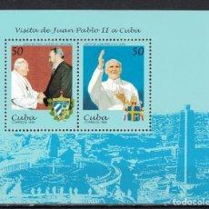 Sellos: ⚡ DISCOUNT CUBA 1998 PAPAL VISIT MNH - RELIGION, FIDEL CASTRO, POPE. Lote 260524330