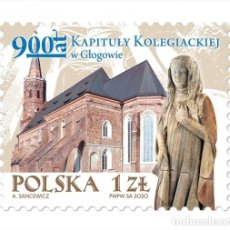 Sellos: ⚡ DISCOUNT POLAND 2020 THE 900TH ANNIVERSARY OF THE COLLEGIATE CHAPTER IN GLOGOW MNH - CHURC. Lote 260543510