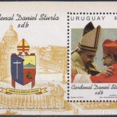 Sellos: ⚡ DISCOUNT URUGUAY 2015 CARDENAL DANIEL STURLA MNH - RELIGION, POPE. Lote 260585960