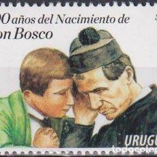 Sellos: ⚡ DISCOUNT URUGUAY 2015 THE 200TH ANNIVERSARY OF THE BIRTH OF SAINT JOHN BOSCO MNH - RELIGIO. Lote 260586020