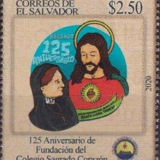 Sellos: ⚡ DISCOUNT SALVADOR 2020 125TH ANNIVERSARY OF THE SACRED HEART COLLEGE MNH - EDUCATION, RELI. Lote 267407759