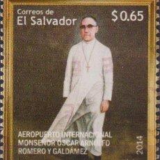 Sellos: ⚡ DISCOUNT SALVADOR 2014 OSCAR ARNULFO ROMERO INTERNATIONAL AIRPORT MNH - AIRPORTS, PRIESTS. Lote 267407909