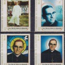 Sellos: ⚡ DISCOUNT SALVADOR 2018 CANONIZATION OF SAINT ALBERTO ROMERO MNH - RELIGION, PRIESTS. Lote 267408289
