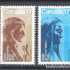 Sellos: CANADÁ Nº 764/765º BEATIFICACIÓN DE RELIGIOSAS CANADIENSES. SERIE COMPLETA. Lote 268719369