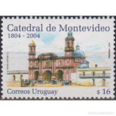 Sellos: ⚡ DISCOUNT URUGUAY 2004 THE 200TH ANNIVERSARY OF THE CATHEDRAL OF MONTEVIDEO MNH - ARCHITECT. Lote 270390113