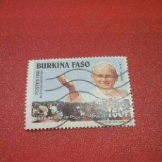 Timbres: SELLO BURKINA FASO (A. VOLTA) MTDO/1 DE 2/1990/VISITA/PAPA/JUAN/PABLOII/RELIGION/CREENCIAS/LEER REGA. Lote 273738338