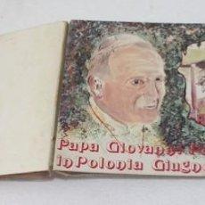 Sellos: PEQUEÑO ALBUM, CON 10 SOBRES 8 VISITA A POLONIA 1983, 1 A CHECOSLOVAQUIA Y 1 REGRESO A LA SANTA SEDE. Lote 274282703