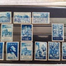 Timbres: LOTE 12 VIÑETAS. SAN IGNACIO DE LOYOL- PRO CENTENARIO 1556-1956. Lote 275244718