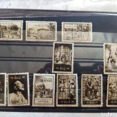 Timbres: LOTE 10 VIÑETAS-SELLOS-SAN IGNACIO DE LOYOLA-PRO CENTENARIO- 1556-1956. Lote 275251528