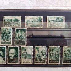 Timbres: LOTE 11 VIÑETAS- SELLOS- SAN IGNACIO DE LOYOLA-PRO CENTENARIO 1556-1956. Lote 275252323