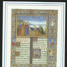 Sellos: BELGICA 1993 HOJA BLOQUE SELLOS TEMATICA BIBLIA - RELATO BIBLICO - SAGRADAS ESCRITURAS. Lote 277220923