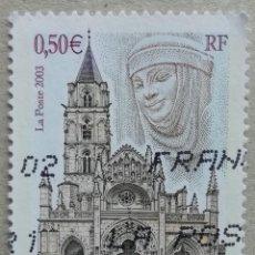 Sellos: 2003. FRANCIA. RELIGIÓN. IGLESIA DE SAINT-PÈRE EN YONNE. SERIE COMPLETA. USADO.. Lote 278800583