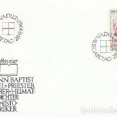 Sellos: LIECHTENSTEIN IVERT 431, JOHANN BAPTIST BUCHEL, HISTORIADOR Y POETA, PRIMER DIA 28-9-1967. Lote 279564323