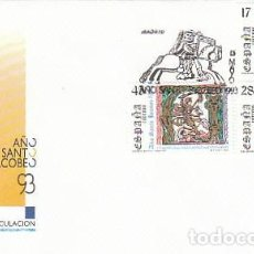 Sellos: EDIFIL 3252/4, AÑO SANTO JACOBEO 1993, PRIMER DIA DE 13-5-1993 SFC. Lote 287741198
