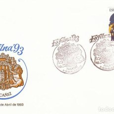 Sellos: EDIFIL 3249, SEMANA SANTA DE ALCAÑIZ (TERUEL), EXFINA'93, PRIMER DIA ESPECIAL DE ALCAÑIZ DE 2-4-1993. Lote 287751743