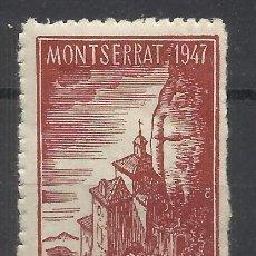Sellos: MONTSERRAT 1947 OLIVA DE VILANOVA 25 CTS NUEVO*. Lote 288946708