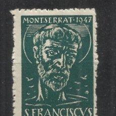 Sellos: MONTSERRAT 1947 SAN FRANCISCUS OLIVA DE VILANOVA 25 CTS NUEVO*. Lote 294388483