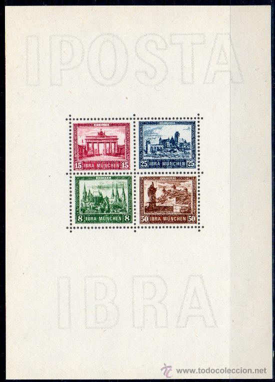 ALEMANIA AÑO 1930 YV HB 1*** (FACSÍMIL) EXPOSICIÓN FILATÉLICA DE BERLÍN - ARQUITECTURA (Filatelia - Sellos - Reproducciones)