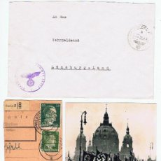 Francobolli: LOTE CIRCULADO 1941 FRAGMENTO 1943 I REPRODUCCION FOTOGRAFICA DESFILE . Lote 27515443