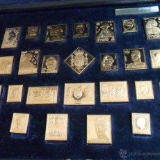 Sellos: LA CASA DE BORBON. 25 PIEZAS DE PLATA BAÑADAS EN ORO DE 22 Q. 1992. Lote 39717651