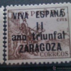 Selos: SELLO ESPAÑA. ZARAGOZA. ARAGÓN. 1938. ESPAÑA. GUERRA CIVIL. 1936-1939. Lote 42511601