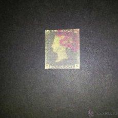 Sellos: PENNY BLACK 1840 MATASELLO CRUZ ROJA, REPLICA. Lote 44956996