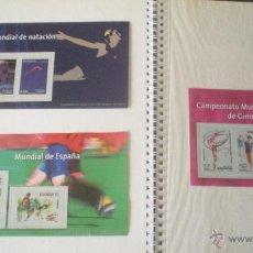 Sellos: 3 REPRODUCCIONES AUTORIZADAS DE SELLOS DE MUNDIAL FUTBOL , GIMNASIA Y NATACION. Lote 45151285