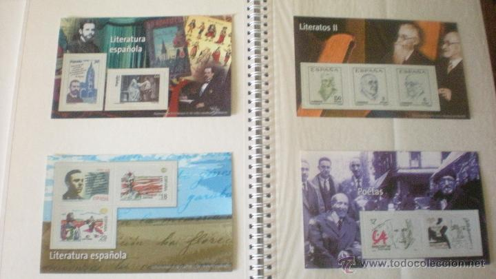 4 REPRODUCCIONES SELLOS DE LITERATOS Y POETAS (Filatelia - Sellos - Reproducciones)