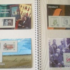 Sellos: 4 REPRODUCCIONES SELLOS DE LITERATOS Y POETAS . Lote 45168361