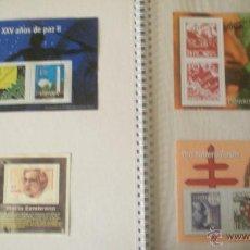 Sellos: 4 REPRODUCCIONES SELLOS 25 AÑOS DE PAZ , MARIA ZAMBRANO , PRO TUBERCULOSIS Y PIONEROS . Lote 45241683
