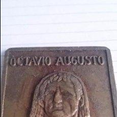 Sellos: PLACA / SELLO DE BRONCE OCTAVIO AUGUSTO MERIDA AC 1975. MEDIDAS 4.5 X 3.7 CM. Lote 50838111