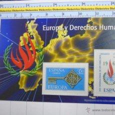 Sellos: HOJA BLOQUE FACSÍMIL. SERIE LOS SELLOS DEL FRANQUISMO. EUROPA Y DERECHOS HUMANOS. 15. Lote 52739333
